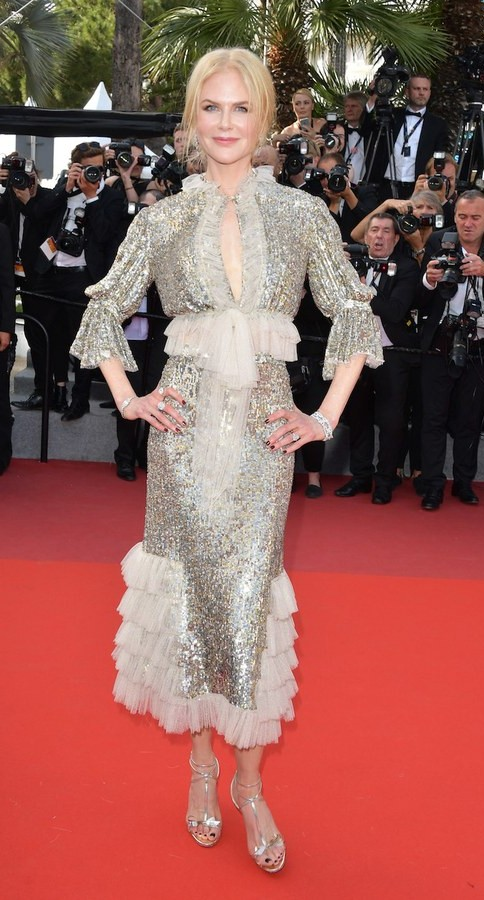 Yay or Nay? Nicole Kidman wearing a sequin and frilled dress at the How To Talk To Girls premiere during the Cannes Film Festival - SeenIt