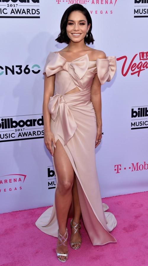 Yay or Nay? Vanessa Hudgens wearing a satin gown at the Billboard Music Awards last night in Vegas - SeenIt