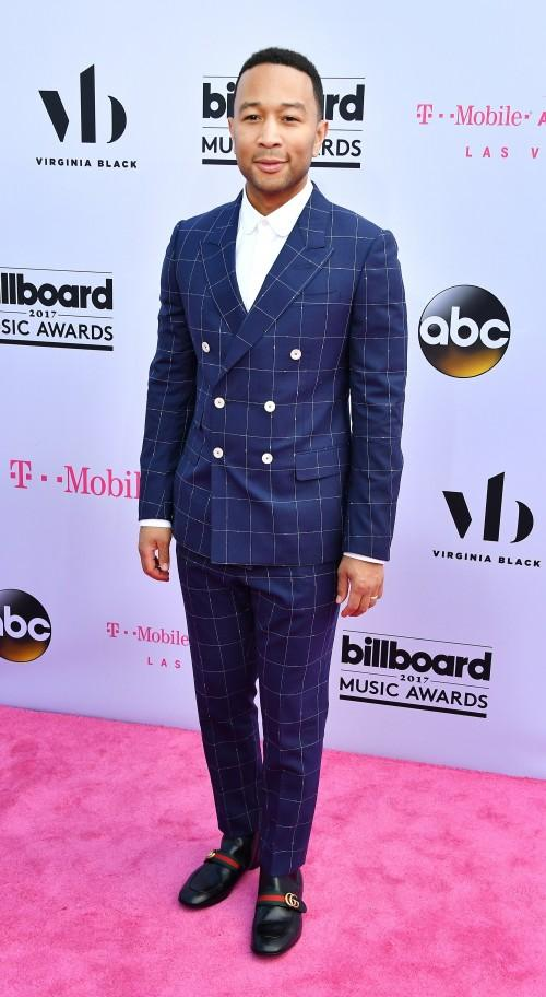 Yay or Nay? John  Legend wearing a blue double breasted suit at the Billboard Music Awards last night in Vegas - SeenIt