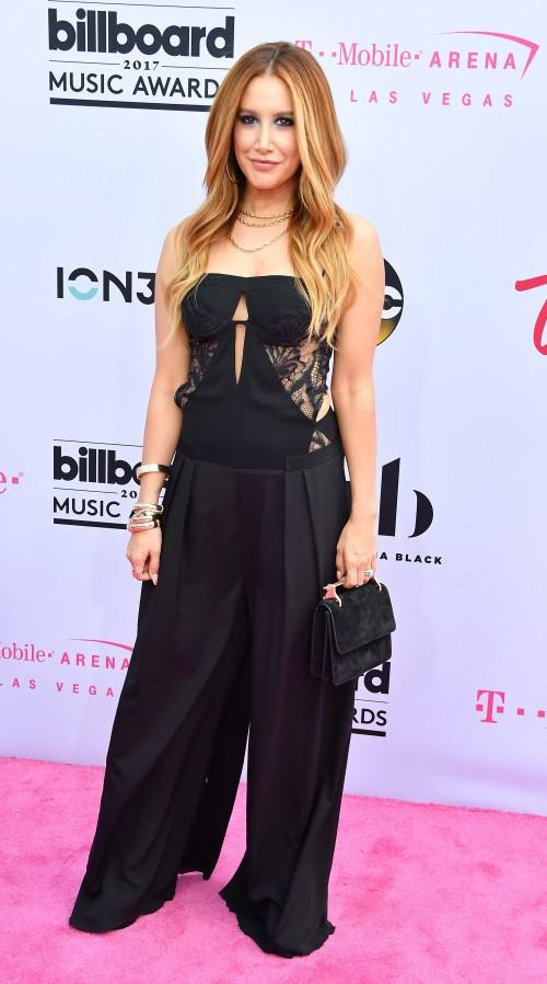 Yay or Nay? Ashley Tisdale wearing a black strapless jumpsuit at the Billboard Music Awards last night in Vegas - SeenIt