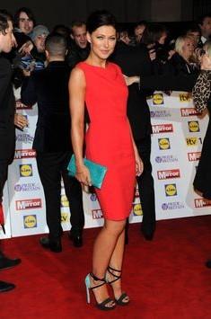 Need a similar red bodycon dress like Emma Willis is wearing. - SeenIt