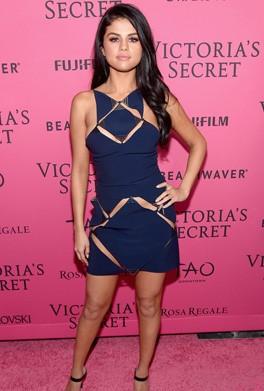 Yay or Nay? Selena Gomez in a navy cutout mini dress - SeenIt