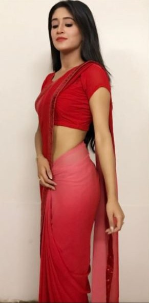 I need her red ombre dyed saree please which Shivangi Joshi is wearing - SeenIt