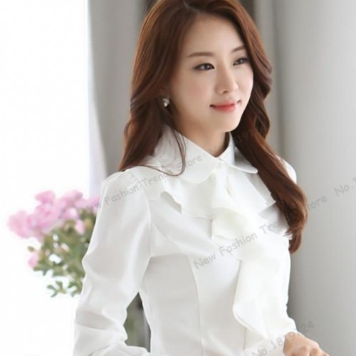 I'm looking for a shirt with ruffles for daily wear in neutral kind of colours - SeenIt