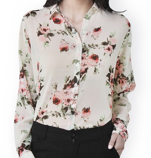 I'm looking for a floral shirt like this for daily wear. - SeenIt