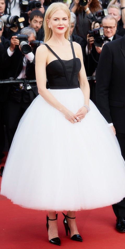Yay or Nay? Nicole Kidman wearing Calvin Klein by Appointment tulle skirt and bustier at the Killing of a Sacred Deer screening during the Cannes Film Festival - SeenIt