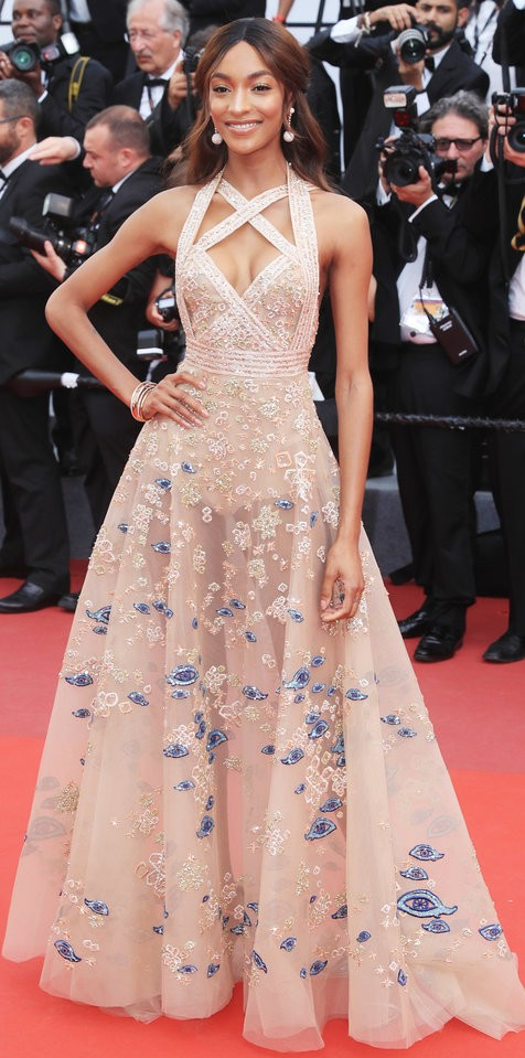 Yay or Nay? Jourdan Dunn spotted wearing a nude embellished gown at the The Killing of a Sacred Deer screening during the Cannes Film Festival - SeenIt