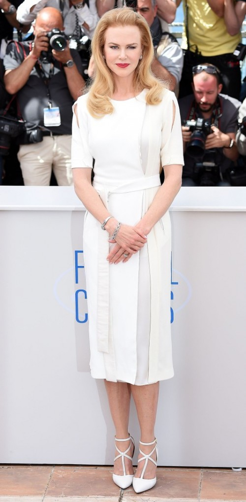 Yay or Nay? Nicole Kidman spotted in a white dress during the Cannes Film Festival this year - SeenIt