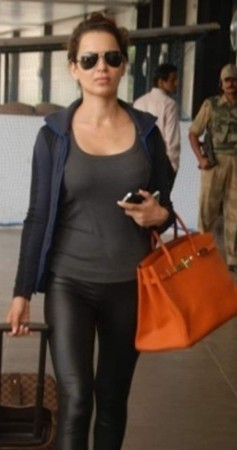 Looking for a similar orange bag like the one spotted on Kangana Ranaut - SeenIt