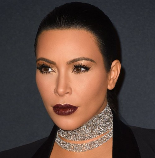 Help me find a similar burgundy lip shade as Kim Kardashian's - SeenIt