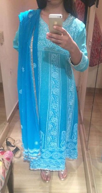 Looking for this blue embroidered kurta set - SeenIt