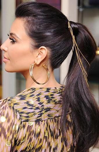 Looking for similar gold loop earrings as Kim Kardashian is wearing - SeenIt