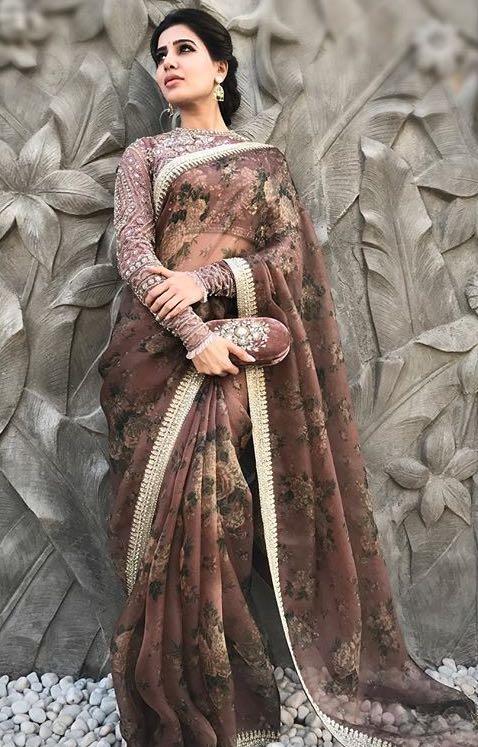 Yay or Nay ? Samantha Prabhu in this floral printed saree - SeenIt