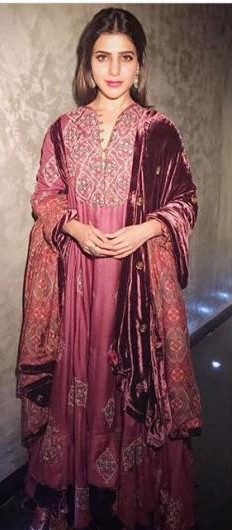 Yay or Nay ? Samantha Prabhu in a pink embroidered anarkali - SeenIt