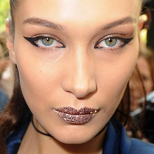 Looking for similar lip glitter as Bella Hadid is wearing - SeenIt
