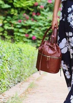 Looking for this brown leather backpack.. - SeenIt