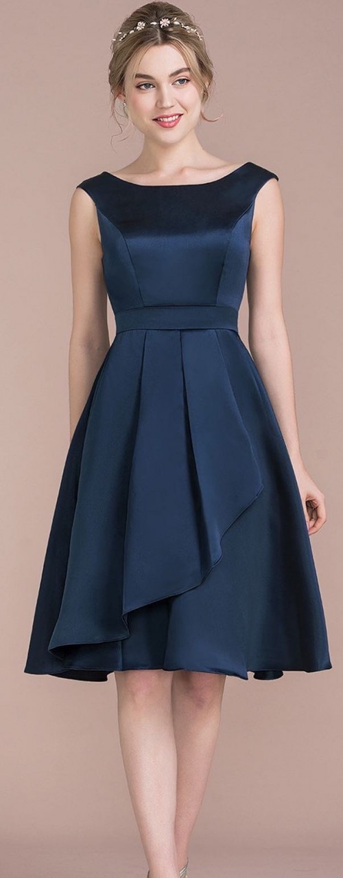 Want this navy flared dress - SeenIt