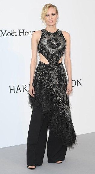 Yay or Nay? Diane Kruger wearing a black Alexander McQueen outfit at the Amfar gala during the Cannes Film festival - SeenIt