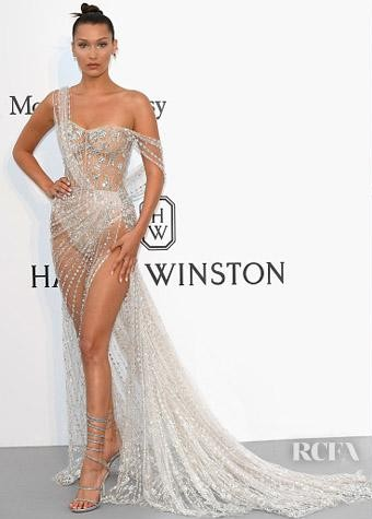 Yay or Nay? Bella Hadid wearing a crystal embellished Ralph & Russo couture outfit at the Amfar Gala during the Cannes Film Festival - SeenIt