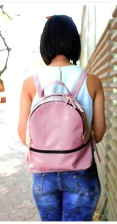 I'm looking for a similar pink backpack as seen on thestylecompile - SeenIt