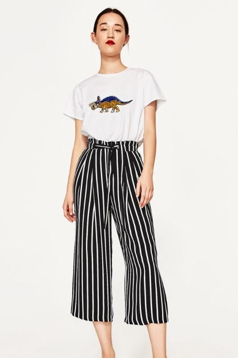 Looking for black and white  striped culottes. - SeenIt
