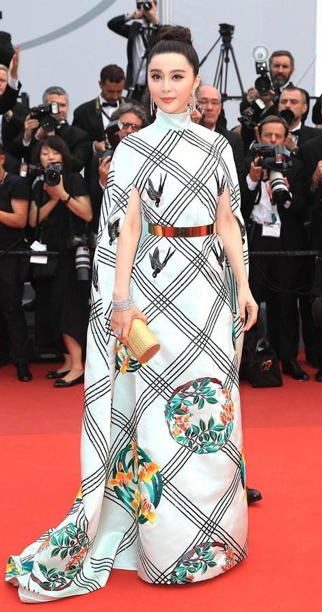 Yay or Nay? Fan Bingbing wearing a high collar cape sleeve gown on day 10 during the Cannes Film Festival - SeenIt