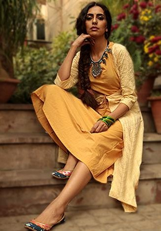 Would love to have this yellow midi dress with chikankari jacket. - SeenIt