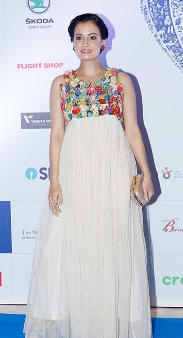 Yay or Nay? Dia Mirza wearing a white flared maxi dress at the Lonely Planet India awards 2017 - SeenIt