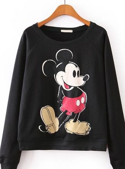 looking for a similar mickey mouse printed sweatshirt - SeenIt