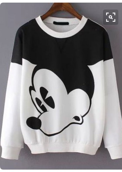 want a similar mickey mouse monochrome sweatshirt - SeenIt