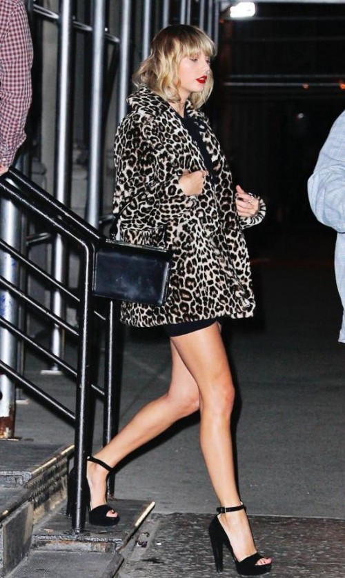 I'm looking for similar black ankle strap heels that Taylor Swift is wearing. - SeenIt