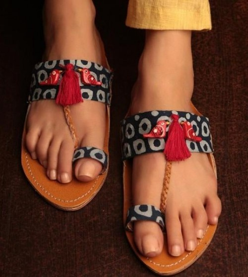 02c8dc07d3e02 Need these blue and white printed kolhapuri chappal..Exactly the same  please - SeenIt