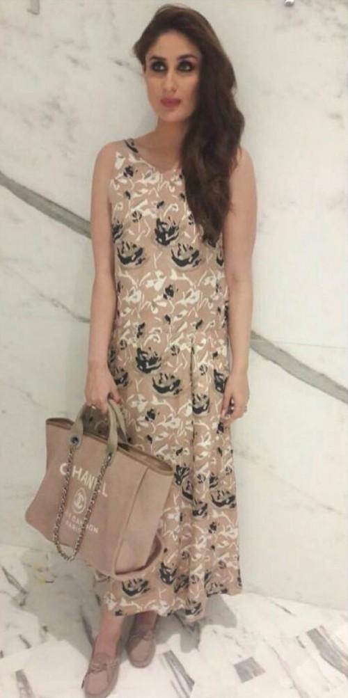Looking for a similar beige floral print dress as seen on Kareena Kapoor - SeenIt