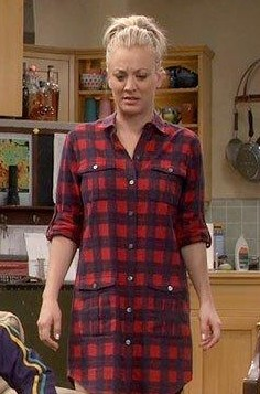 need that plaid shirt dress please which Penny is wearing in big bang theory - SeenIt