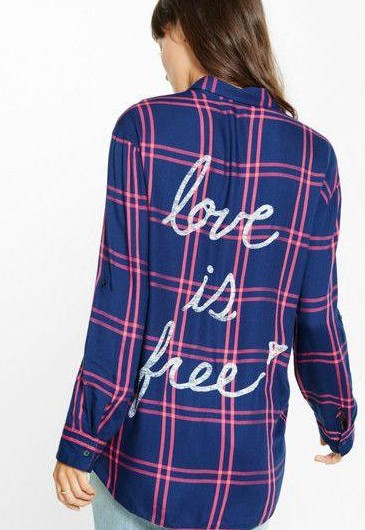 looking for a plaid shirt with graphics on the back. - SeenIt