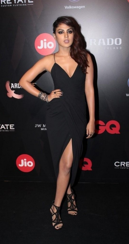 Yay or Nay? Rhea Chakraborty wearing a black slit maxi dress at the GQ Best Dresses Awards 2017 - SeenIt