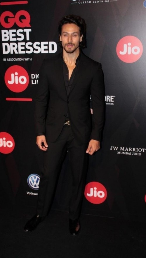 Yay or Nay? Tiger Shroff spotted dressed in a black suit at the GQ Best Dressed Awards 2017 - SeenIt