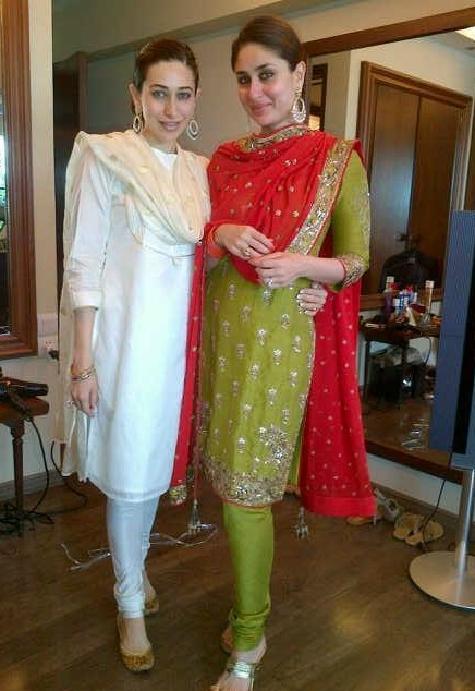 Want a similar red and green embroidered salwar kameez which Kareena Kapoor is wearing - SeenIt