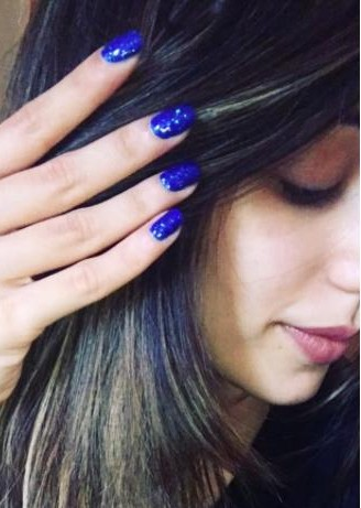 I'm looking for a similar blue nailpolish as seen on helidaruwala - SeenIt