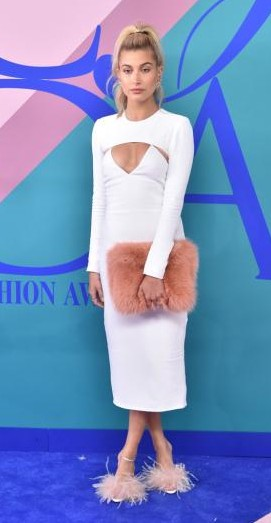 Yay or Nay? Hailey Baldwin wearing a white midi dress and Brother Vellies heels at the CFDA Awards 2017 - SeenIt