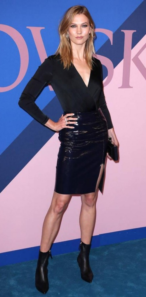 Yay or Nay? Karlie Kloss wearing a black Diane Von Furstenberg outfit with black ankle boots at the CFDA Awards 2017 - SeenIt