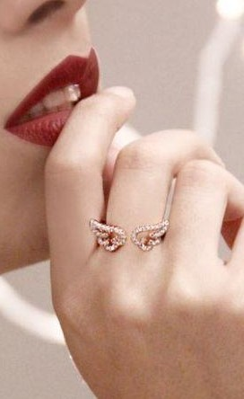Help me find this golden and crystal embellished wings ring from Indian website!! - SeenIt