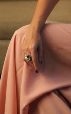 So in love with this pearl and stone embellished ring!! Please help me find it.. - SeenIt