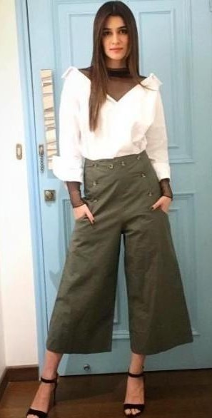 Want similar olive green culottes which Kriti Sanon is wearing - SeenIt