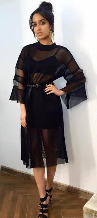 Want this black sheer dress which Shraddha Kapoor is wearing - SeenIt