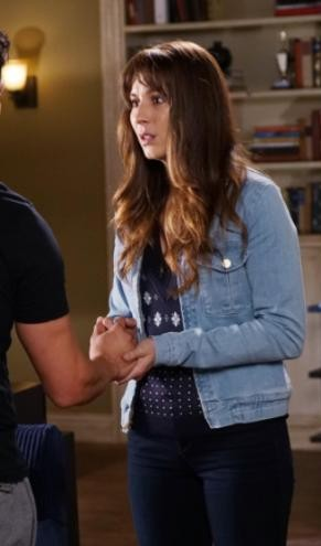 Looking for a similar light blue denim jacket that Spencer is wearing - SeenIt