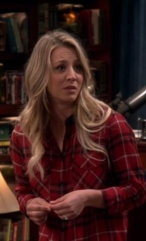 Want a similar red plaid shirt that Penny wore - SeenIt