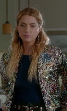 Can you help me find a similar sequin clad jacket like Hanna's - SeenIt