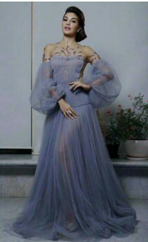 Want a lavender tulle gown like the one which Jacqueline Fernandez is wearing - SeenIt
