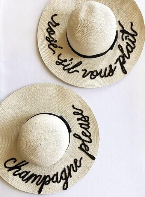 I m looking for a similar beige straw hat with personalised lettering -  SeenIt 918decb132c